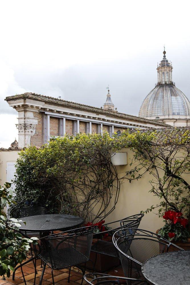 Terrasse Extérieure Hôtel Raphël Relais Châteaux Un week-end à Rome