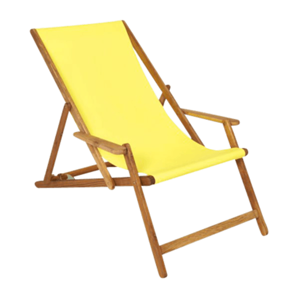 Yellow deck chair the socialite family for Chaise longue chilienne