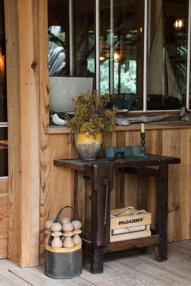 Entrée Maison en bois Hadrien Bartherotte Cap Ferret