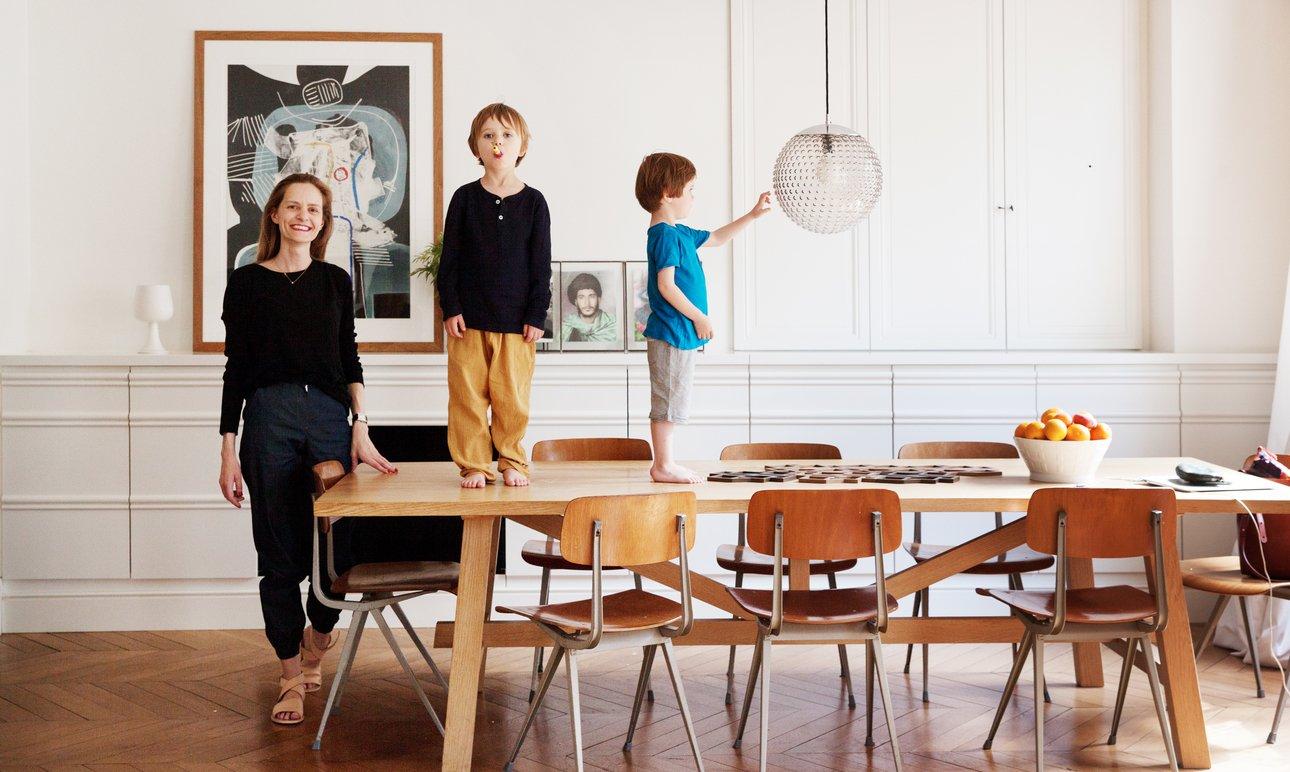 Constance Baudeau et Marius 5 ans, </br> Jacques 4 ans