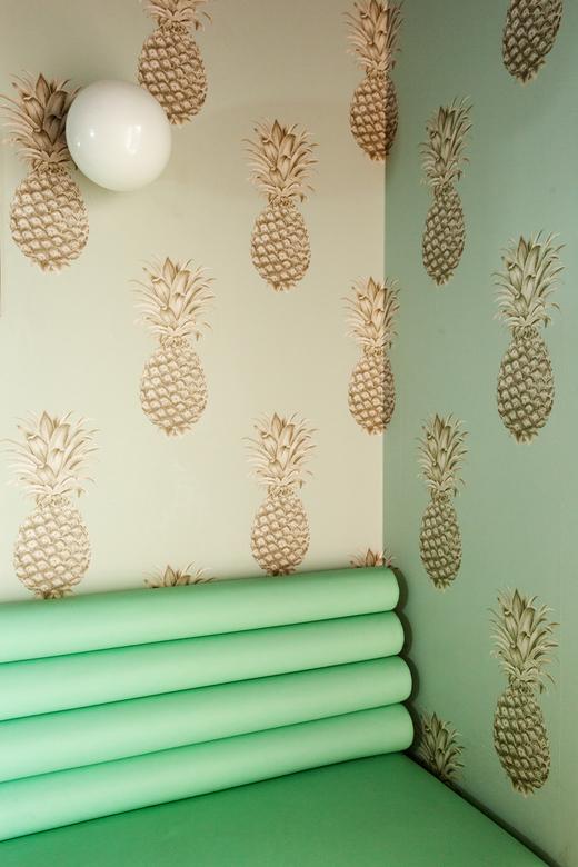 Salle ananas papier-peint Opaline BAM Karaoké Parmentier Paris