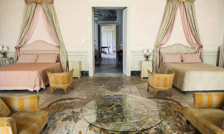 Chambre Lits doubles Villa Tasca
