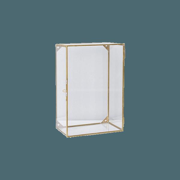 vitrine murale en verre et laiton the socialite family. Black Bedroom Furniture Sets. Home Design Ideas