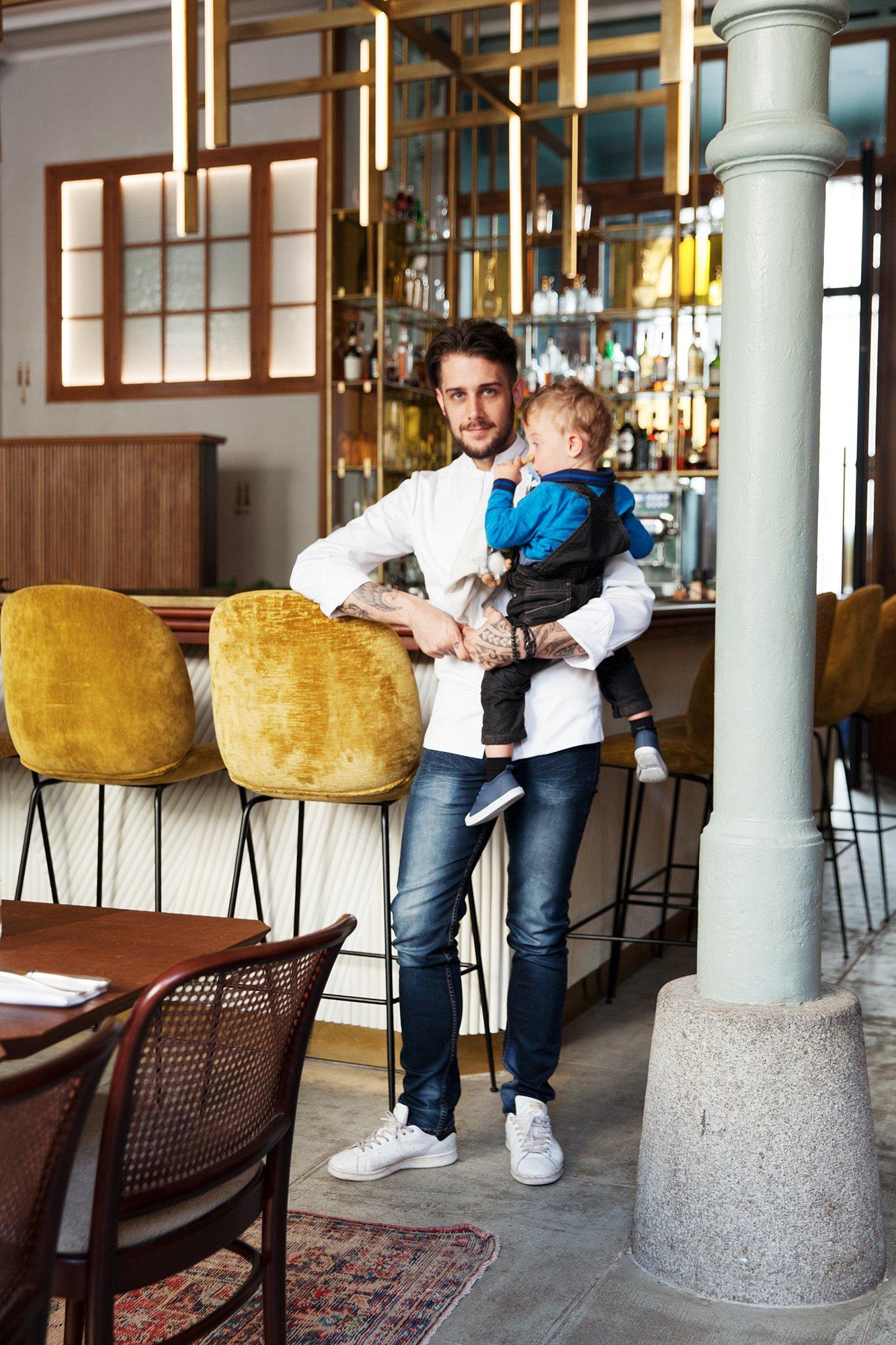 Portrait Alexis Le Tadic Restaurant Le Camondo Paris