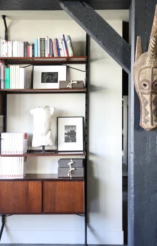 Livres Bibliothèque Coin Salon Appartement Designer Pierre Gonalons
