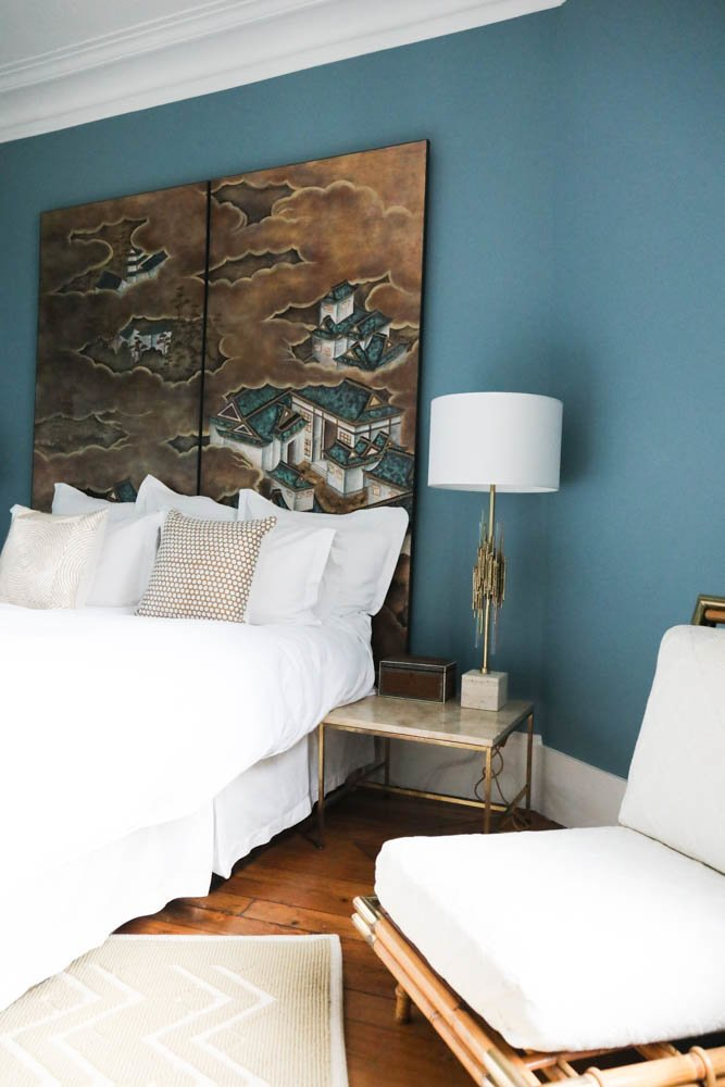 Chambre bleue Appartement Paris Bertrand Waldbillig