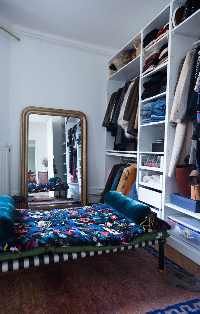 Dressing Banc Charpoi petit The Socialite Family x Le Monde Sauvage Polochon Goya Sabina Socol Appartement Paris