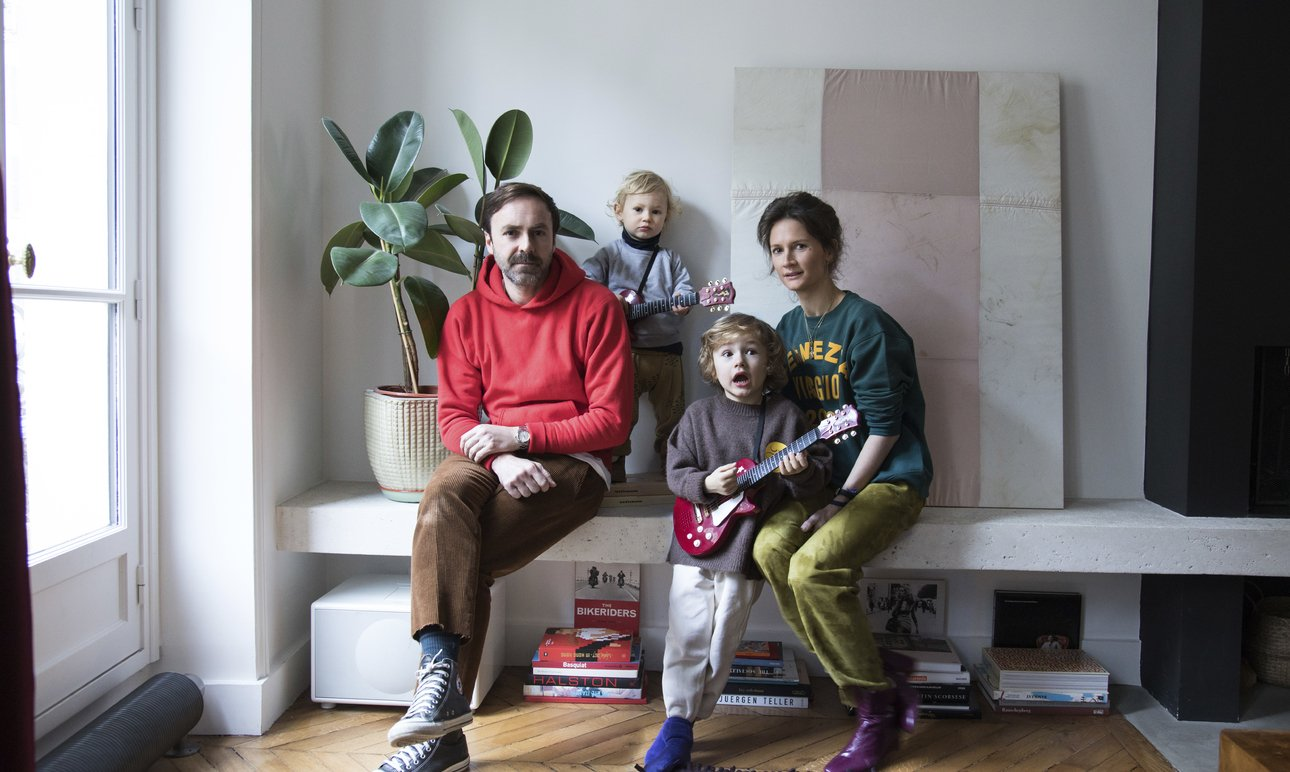Anne-Fleur Broudehoux and Thierry Lebraly,<br> Joseph 4, Zacharie 2 years old