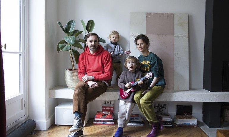 Anne-Fleur Broudehoux et Thierry Lebraly,<br> Joseph 4 ans et Zacharie 2 ans