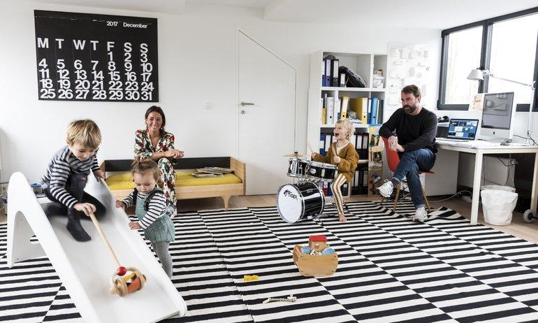 Cristina Balducci et Frédéric, <br> Alexandre 5 ans, Louis 4 ans, Colette 1 an