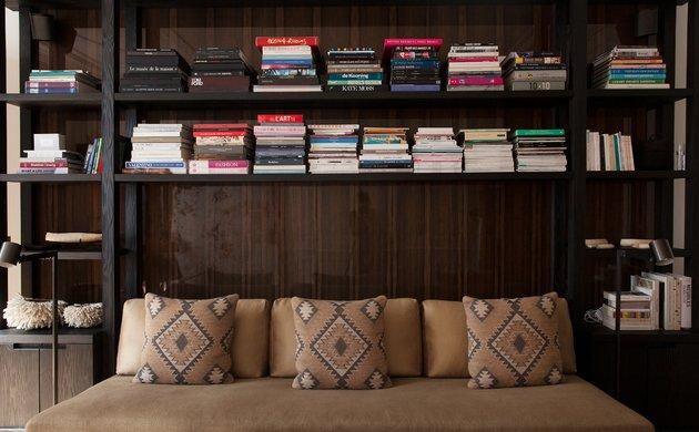 Salon Livres Bibliothèque Appartement Amélie Gillier