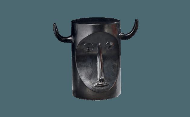 Sculpture tête de taureau Robert & Jean Cloutier
