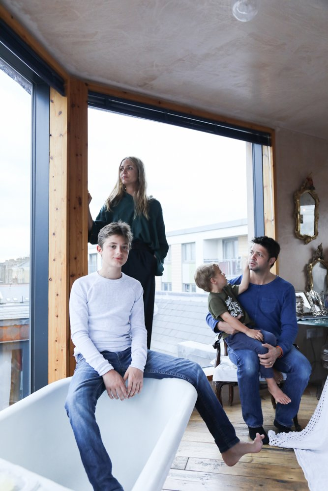 Famille Photographie Appartement Londres Carolina Mazzolari et Conrad Shawcross