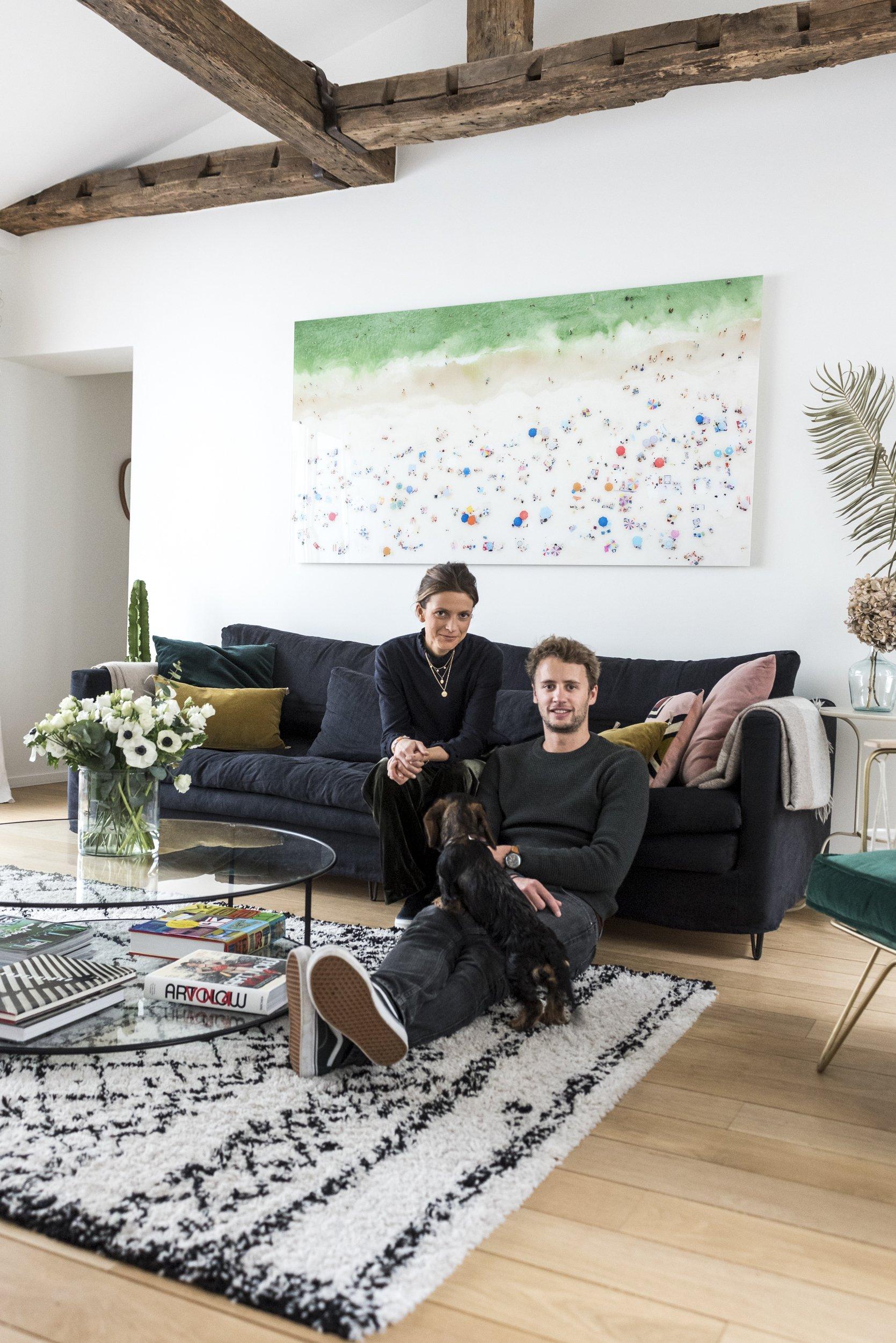 Salon Appartement Portraits Jessica et Hugo Mulliez Paris