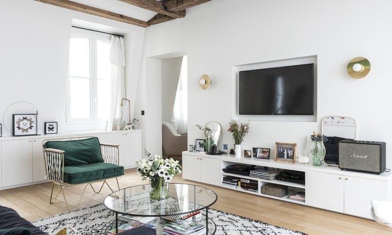 Salon Appartement Jessica et Hugo Mulliez Paris