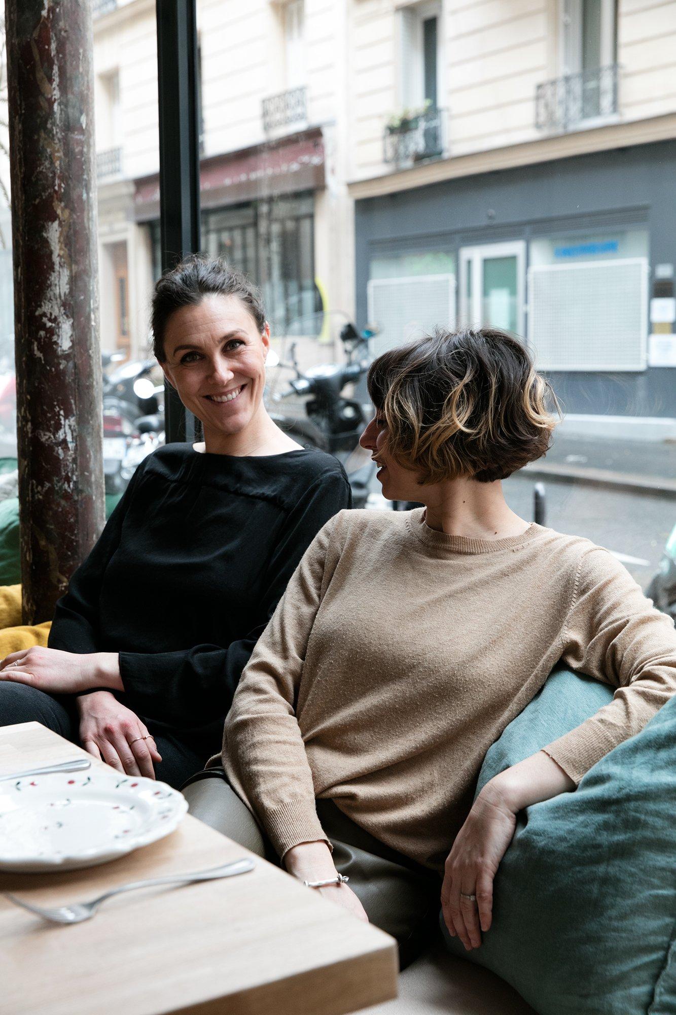 Portrait Marion Seiler et Lucie Briglia Fondatrices Restaurant À L'ombre