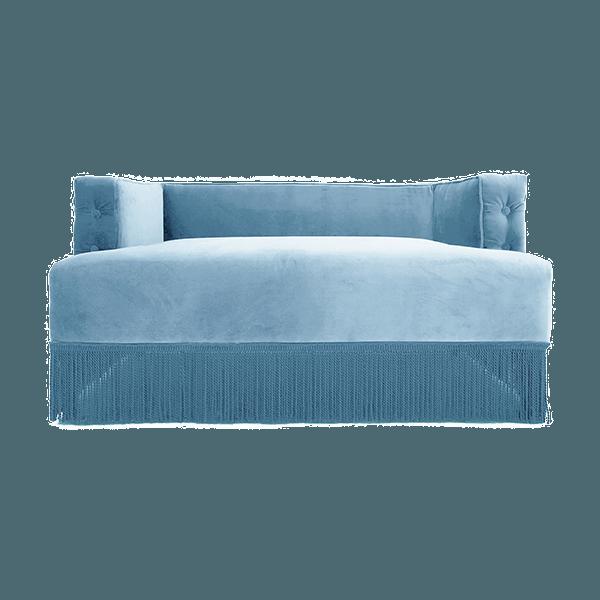 Superieur Pastel Blue Velvet Nonna Sofa