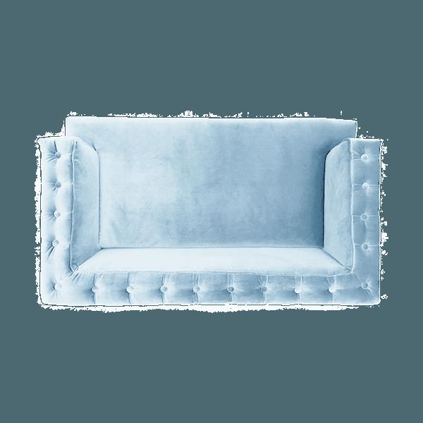 Pastel Blue Velvet Nonna Sofa