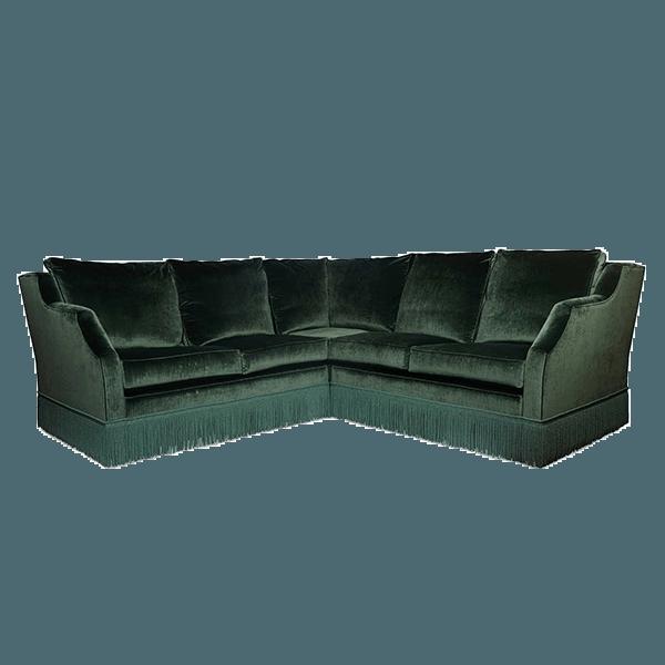 Green Velvet Corner Sofa