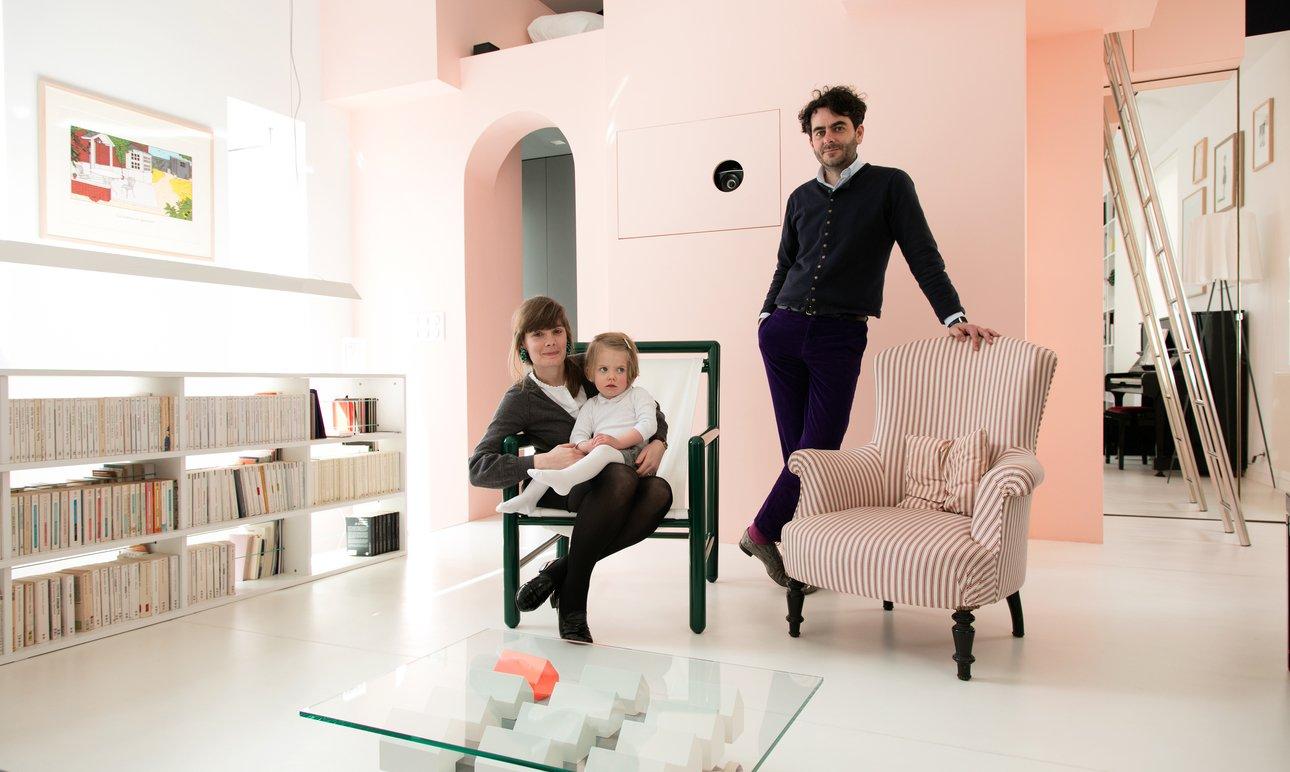 Clément Miglierina et Audrey, <br> Apolline 2 ans