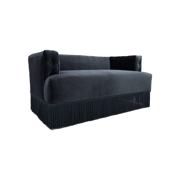 canap nonna en velours gris the socialite family. Black Bedroom Furniture Sets. Home Design Ideas