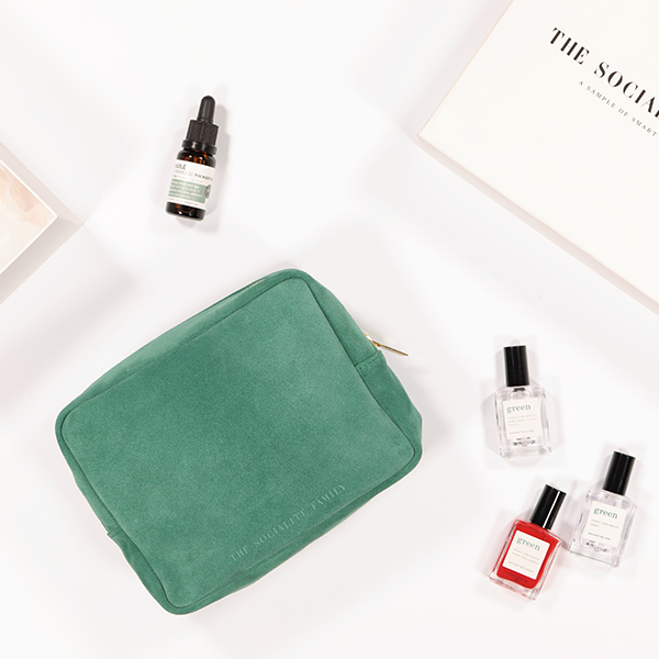Kit de beauté The Socialite Family en daim vert
