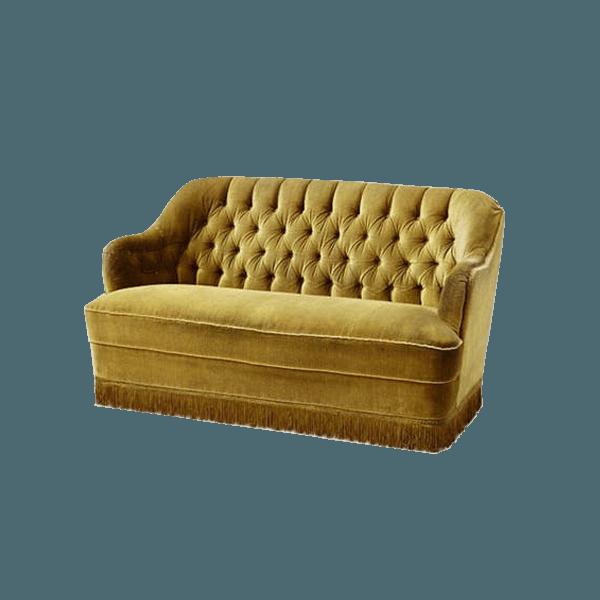 Yellow Velvet Sofa