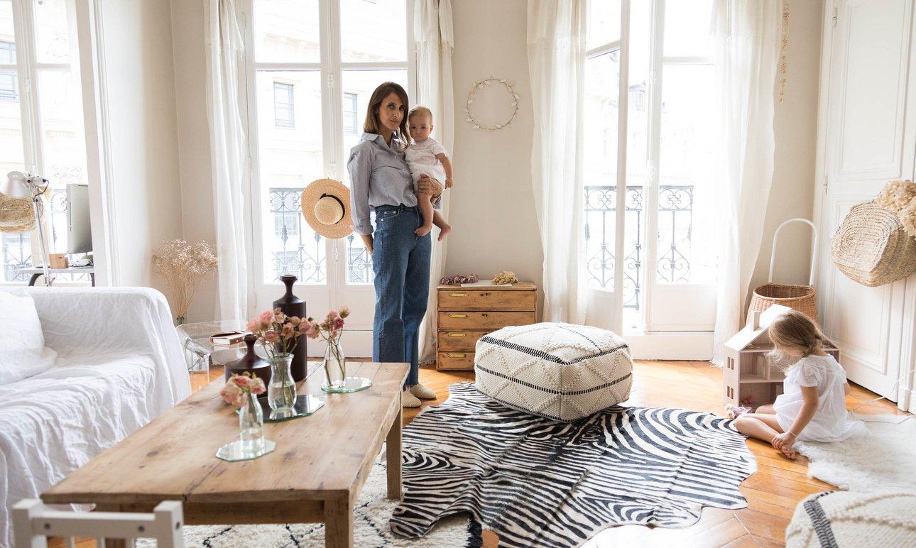 Audrey Borrego and Patrick, <br> Auguste 11, Adèle 3, Madeleine 7 month old