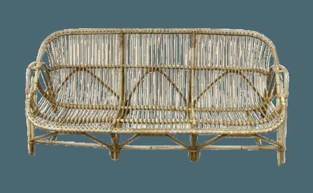 Bench Rattan Three Seats