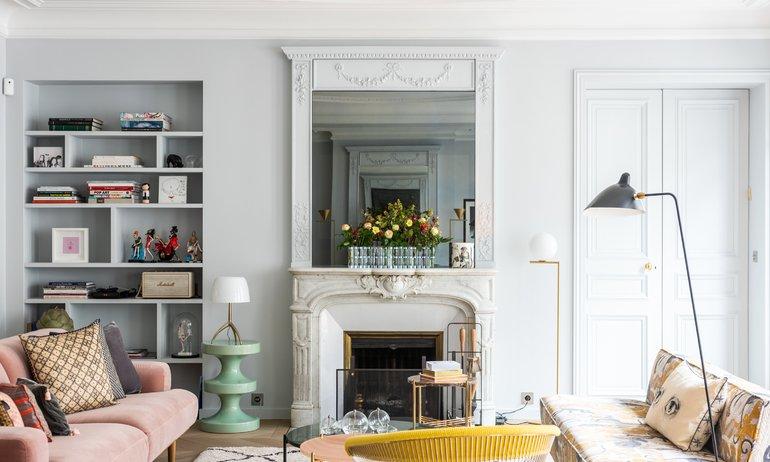 Salon Appartement Parisien Florence Elkouby Paris