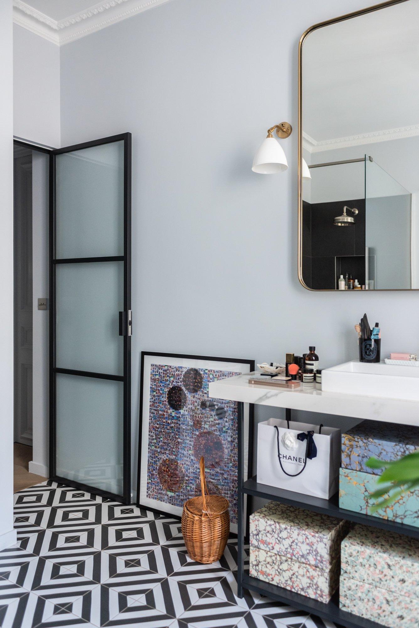 Salle de bain Appartement Parisien Florence Elkouby Paris