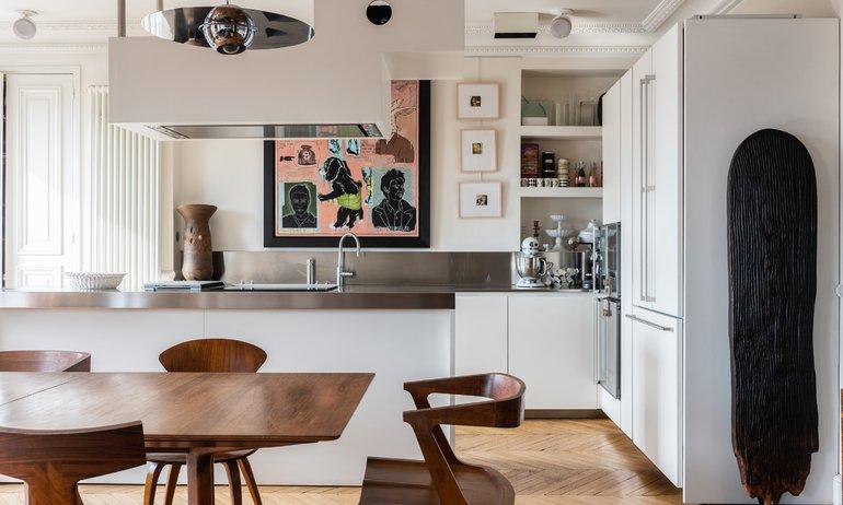 Cuisine Paris Appartement Odéon Elisabeth Boucher et Philippe Feinsilber