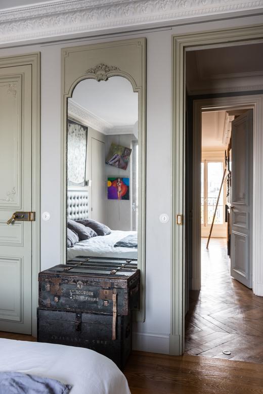 Couloir Paris Appartement Odéon Elisabeth Boucher et Philippe Feinsilber