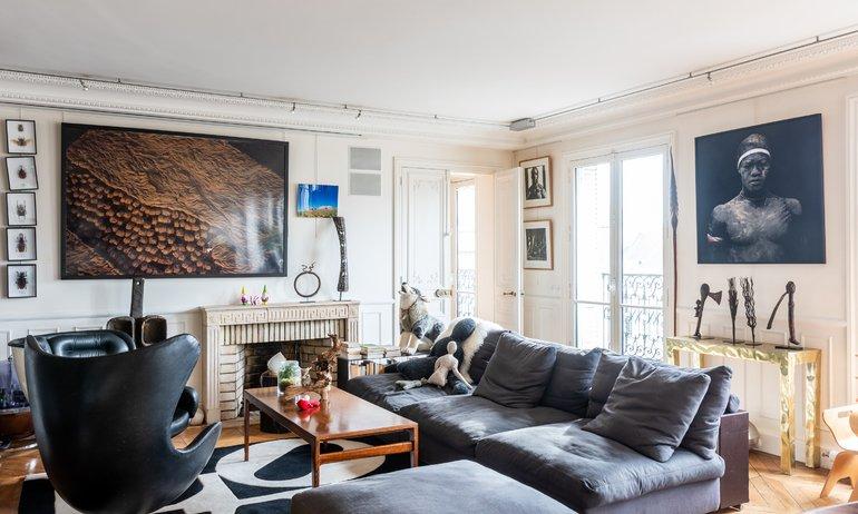 Salon Paris Appartement Odéon Elisabeth Boucher et Philippe Feinsilber