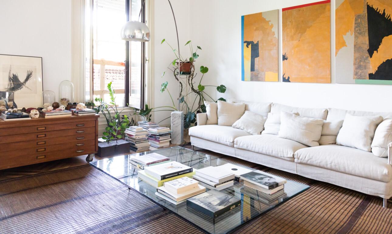 Salon Appartement Milan Fanny Bauer Grung et David Lopez Quincoces