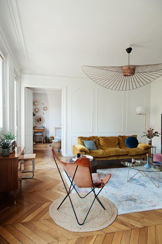 Salon Appartement Paris 10ème arrondissement Famille Darya Shodjaie Kopp et Grégoire