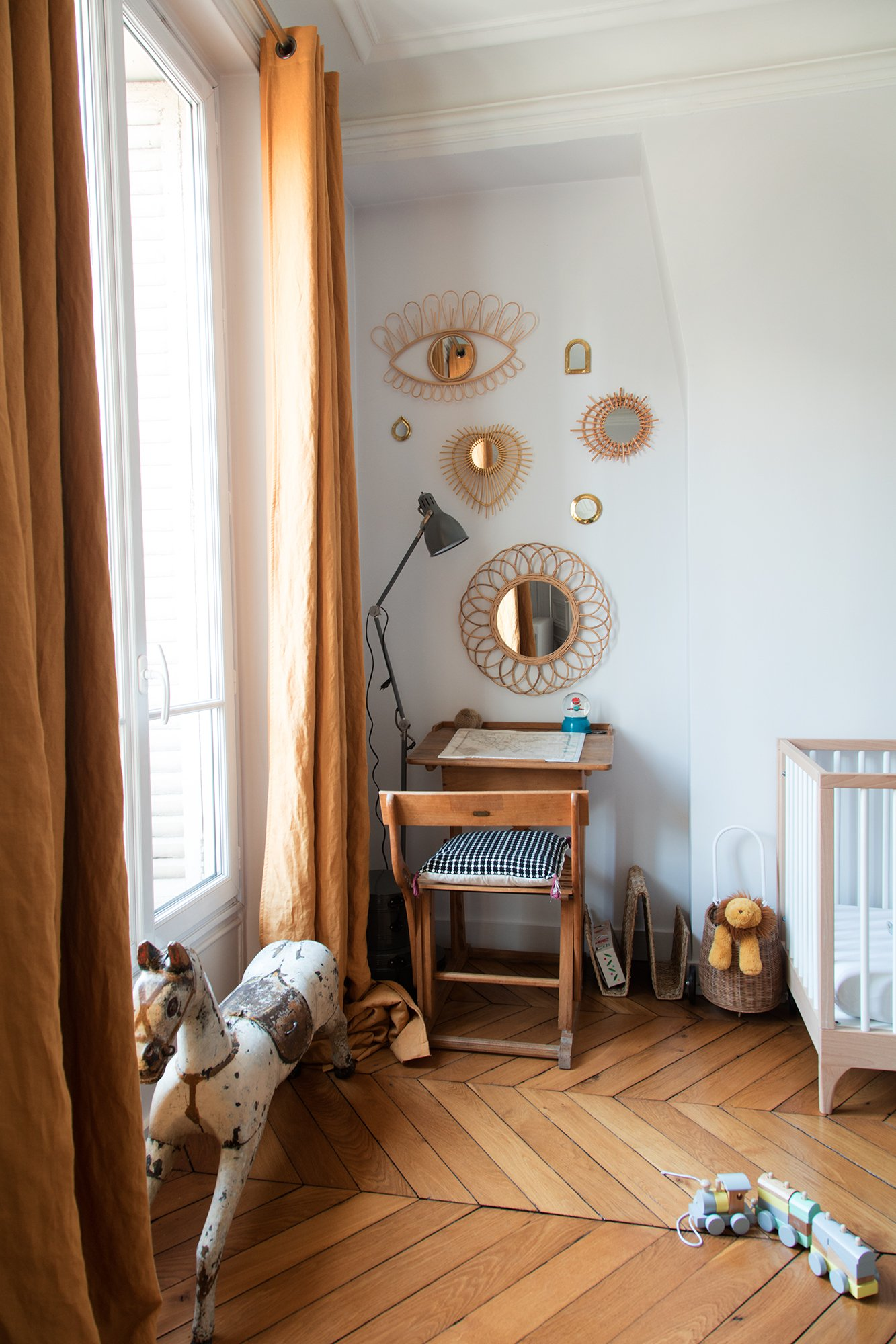 Chambre Bébé Appartement Paris 10ème arrondissement Famille Darya Shodjaie Kopp et Grégoire