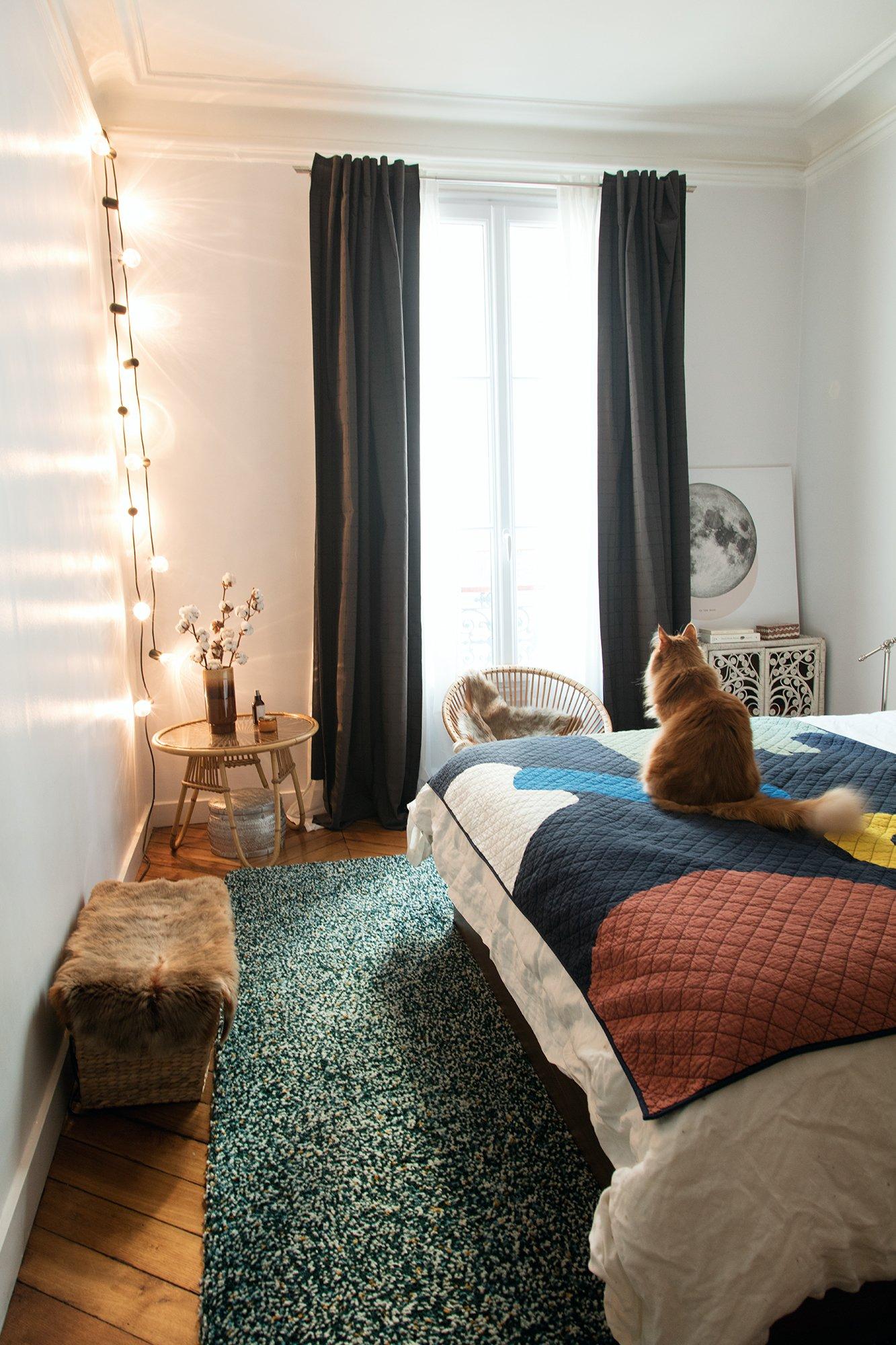 Chambre Appartement Paris 10ème arrondissement Famille Darya Shodjaie Kopp et Grégoire