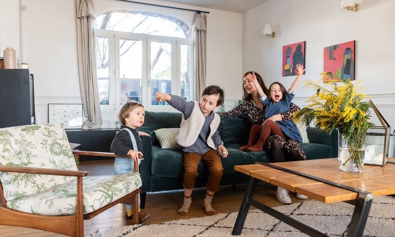 Mylène Kiener, <br> Arthus 6, Jeanne 4 ans <br> et Achille, 18 mois