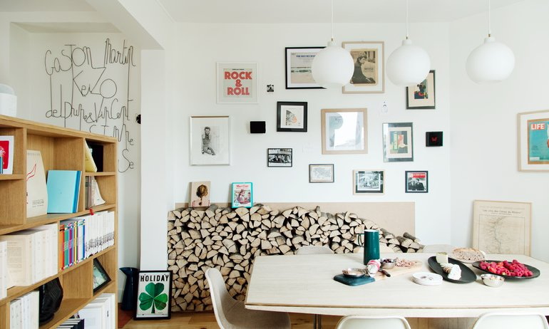 Salle à manger Paris Appartement Famille Créatrice Maison Plisson Delphine Plisson