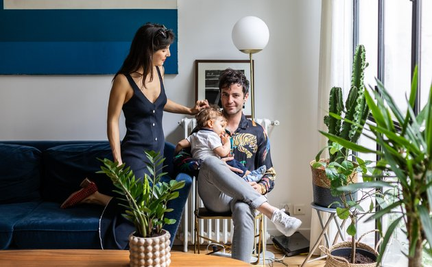 Chloé Siegmann and Alexandre Grynszpan, <br> Côme 1 year old