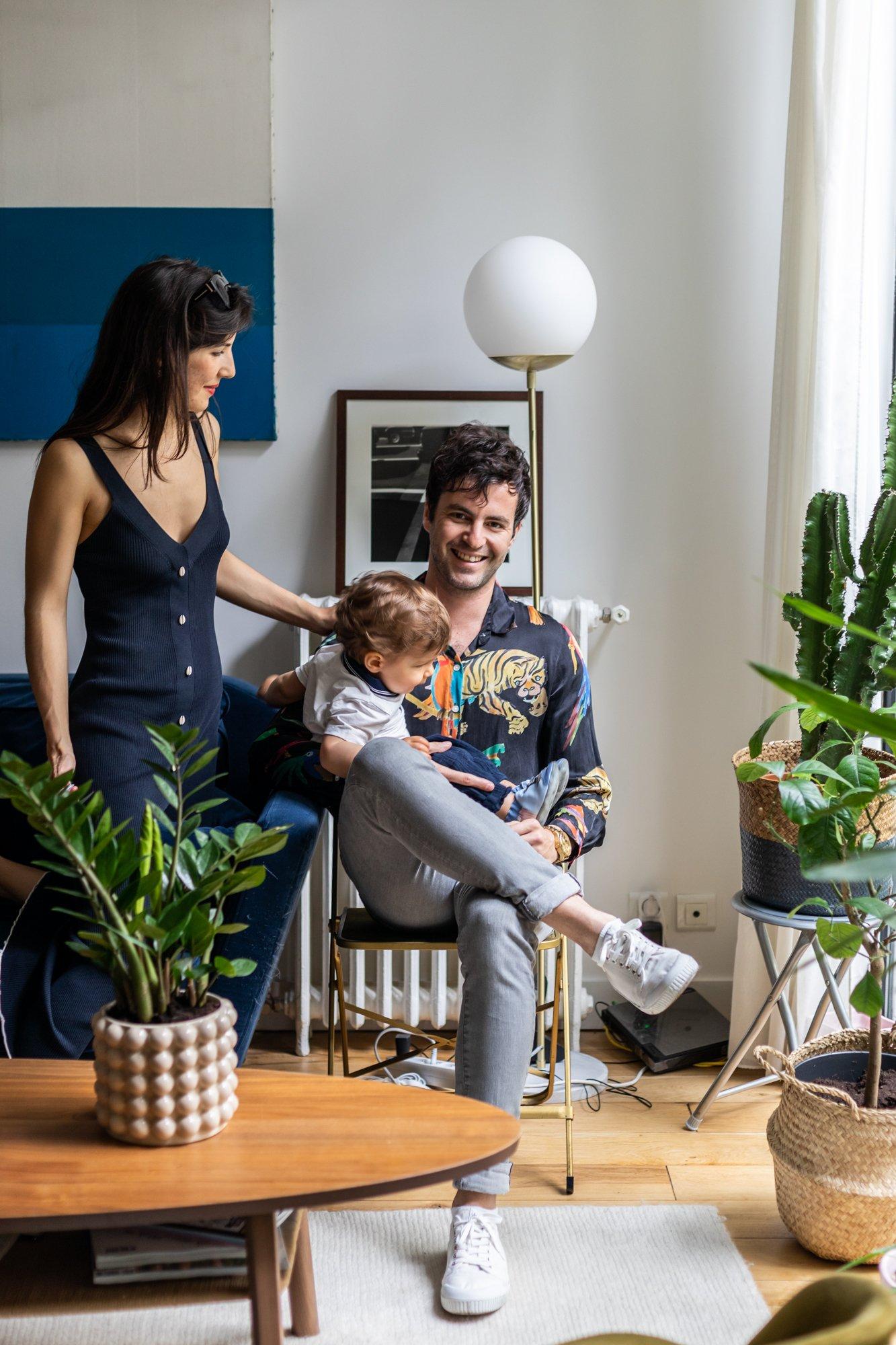 Chloé Siegmann and Alexandre Grynszpan, <br> Côme 1 year old