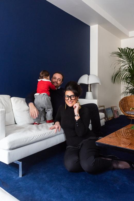Portrait Famille Inès-Olympe Mercadal créatrice marque Inès-Olympe Mercadal Appartement Paris