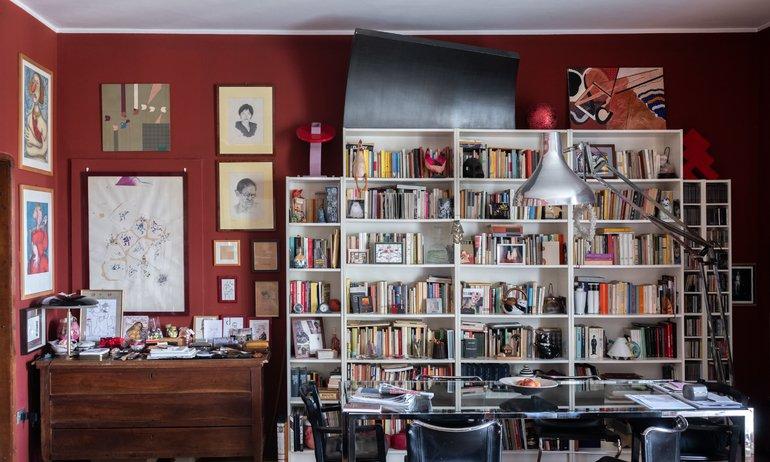 Salon Bibliothèque Italo Manca Milan Italie