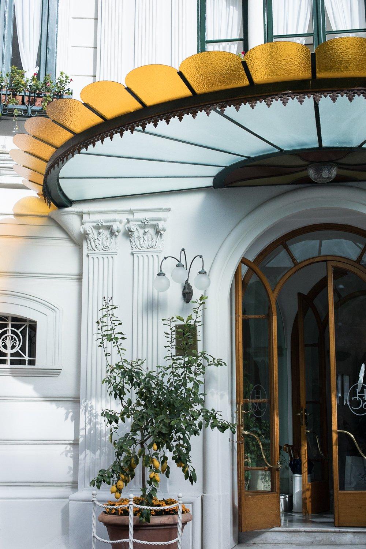 Entrée Amalfi Italie Hôtel Santa Caterina Famille Gambardella