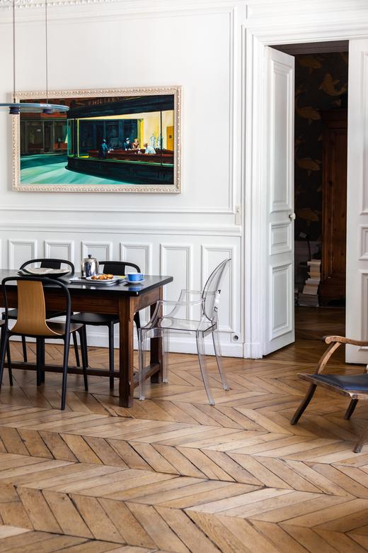 Salle à manger Appartement Paris Sylvie Adigard