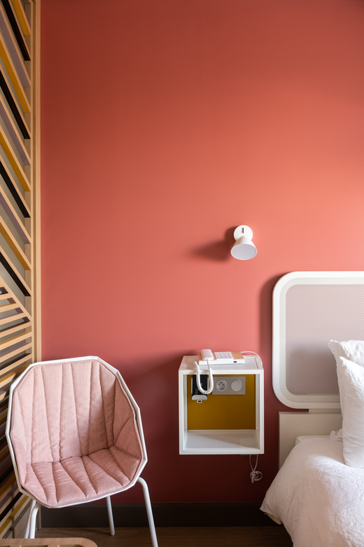 Adresse Paris Okko Hotels Gare de l'Est Chambre Design Rose Studio Catoir