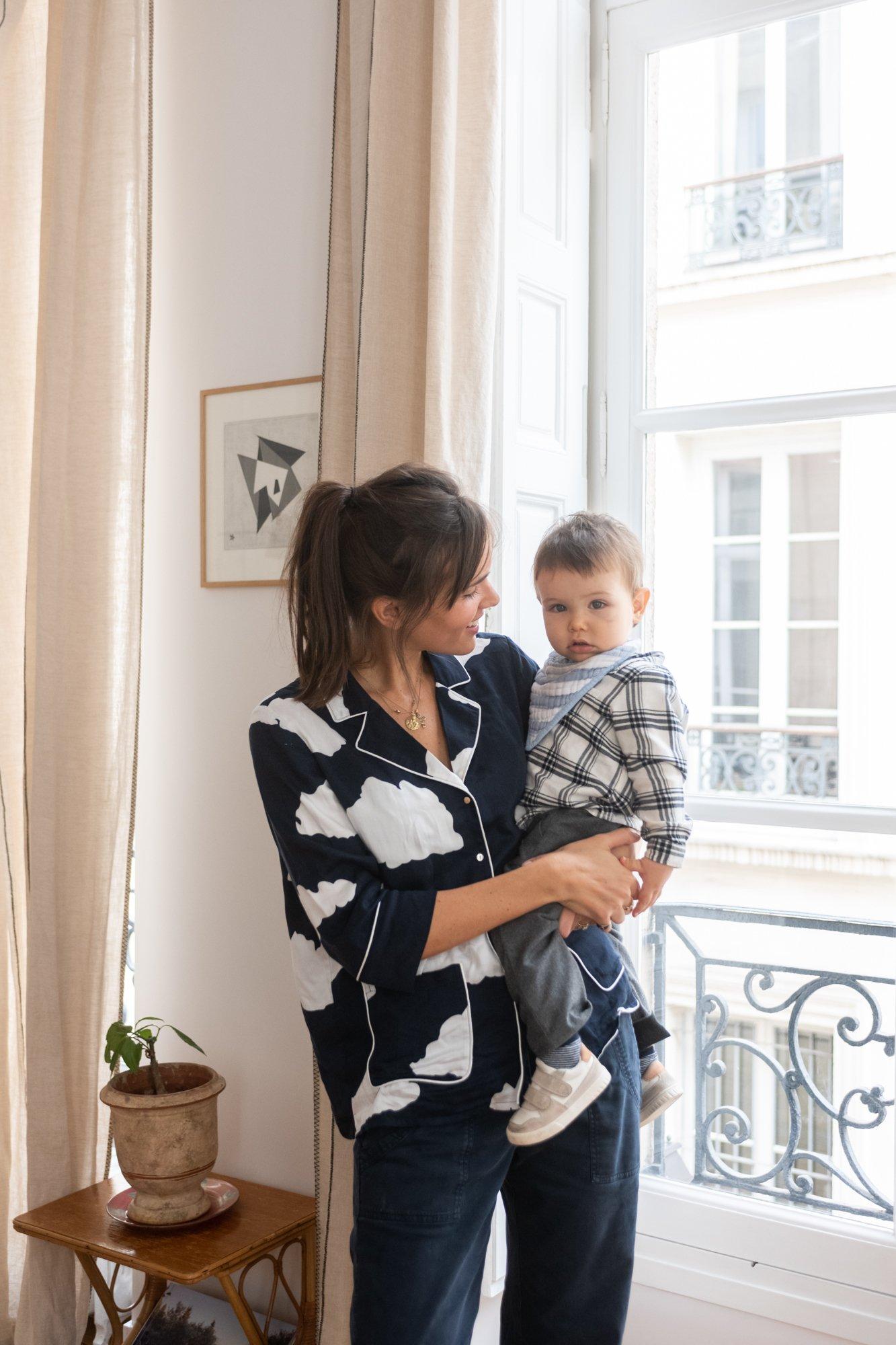 Salon Appartement Paris Marais Fondatrice Côme Éditions Portrait Clémence Dru et Antoine de Tavernost