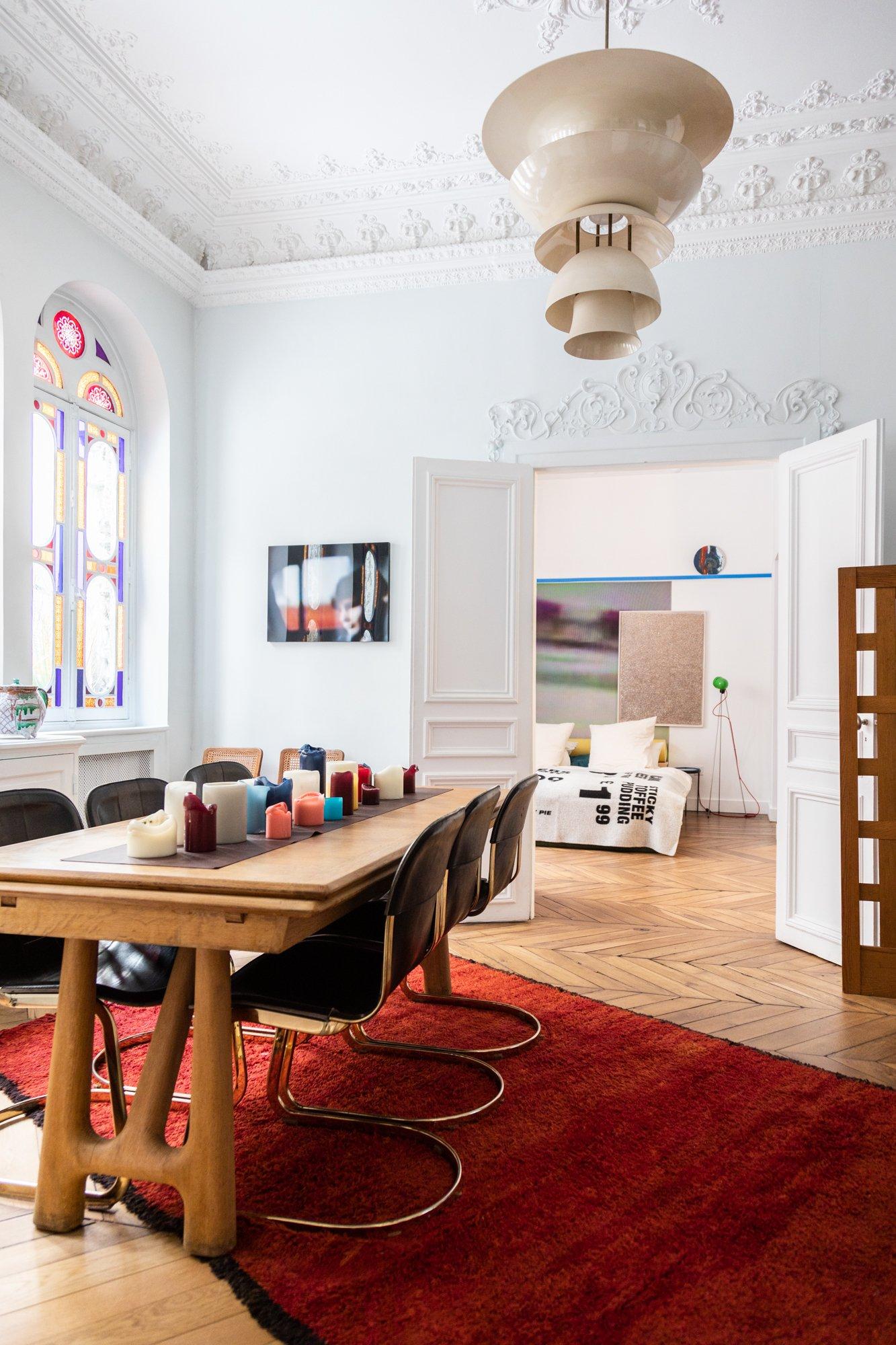 Salle à manger Paris Appartement Jean-Christophe Aumas Directeur agence Singular