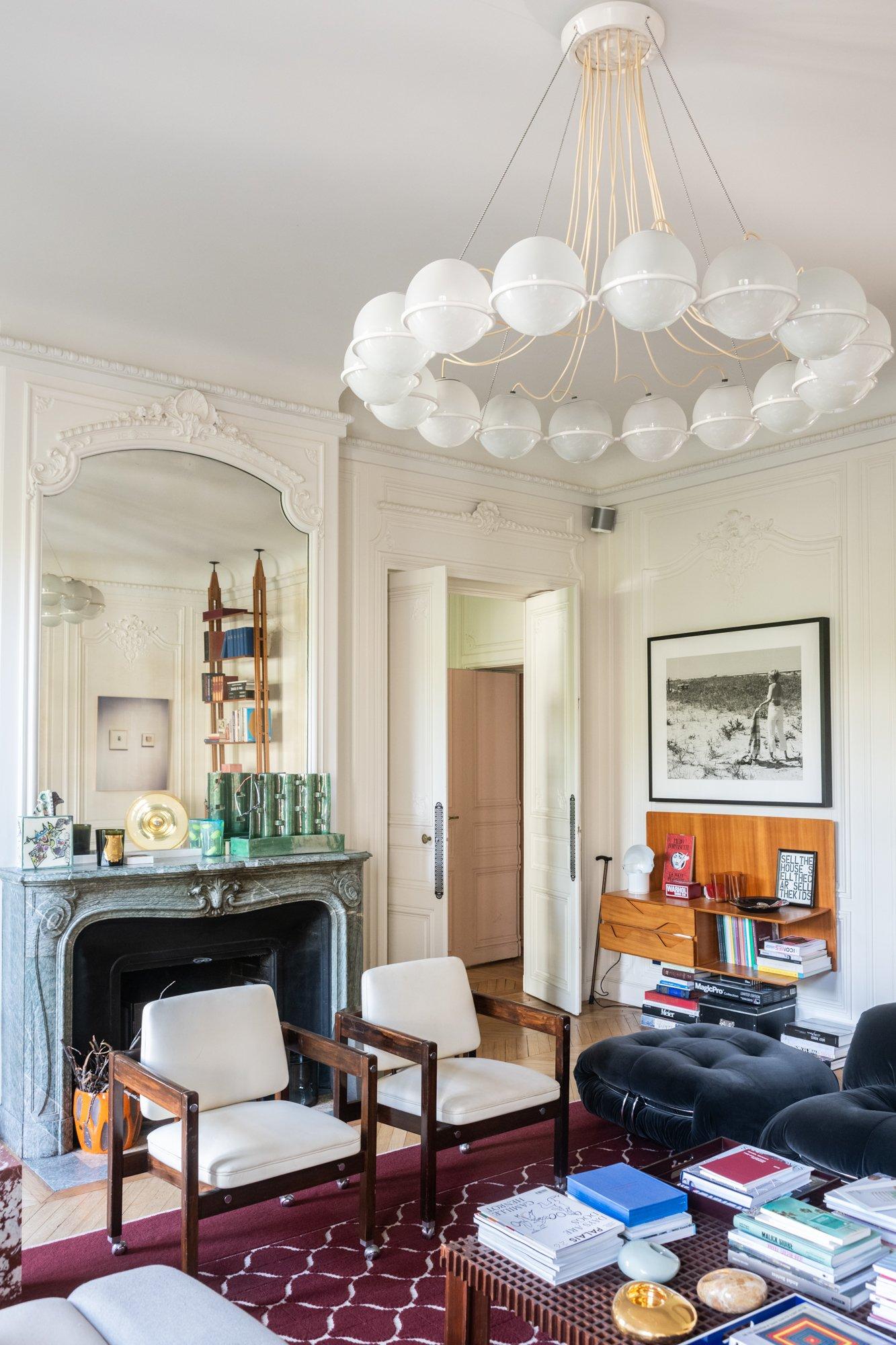 Salon Appartement Paris Architecte intérieur Sandra Benhamou